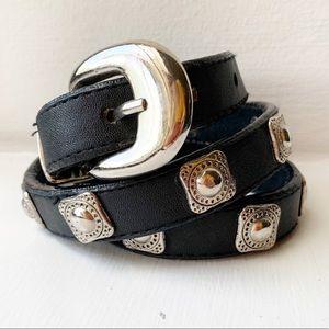 Unbranded Skinny Studded Belt Waist PVC